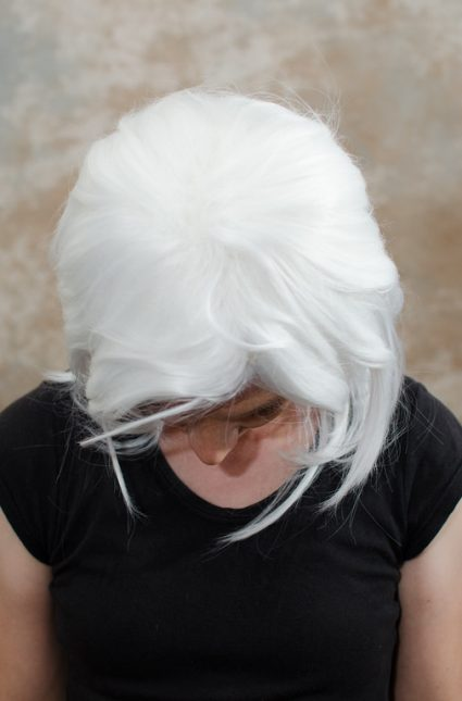 Bakura cosplay wig top view