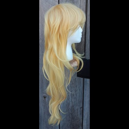 What The cosplay wig side view