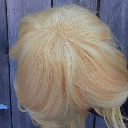 What The cosplay wig top view