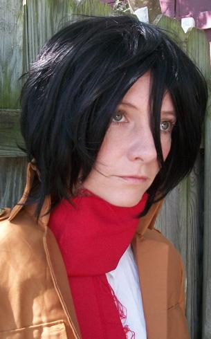 Mikasa Ackerman cosplay wig