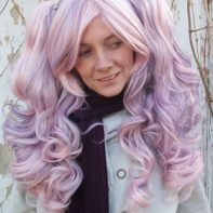 Gothic Lolipocalypse Berry Chablis pink and purple lolita wig