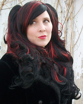 Gothic Lolipocalypse Black Cherry Cordial red and black lolita cosplay wig