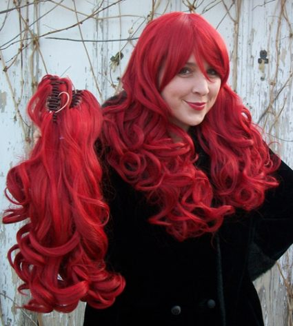 Gothic Lolipocalypse Bloody Mary red gothic lolita wig clip view