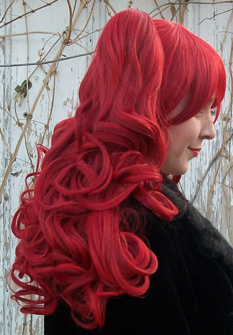 Gothic Lolipocalypse Bloody Mary red gothic lolita wig side view