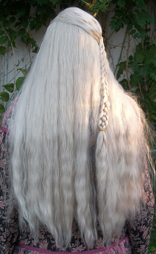 Daenerys cosplay wig back view