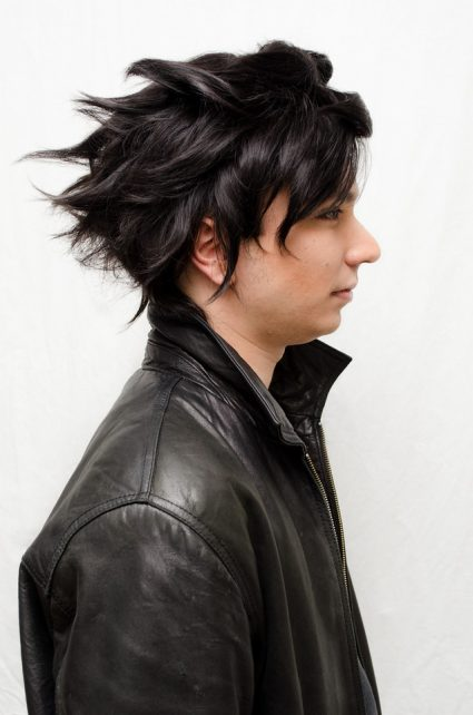 Karkat cosplay wig side view