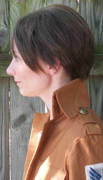 Eren cosplay wig side view