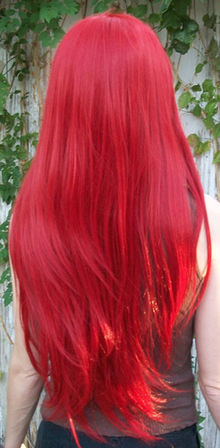 Erza cosplay wig back view