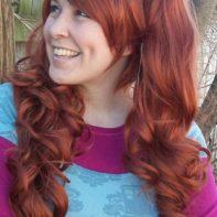 Auburn lolita wig