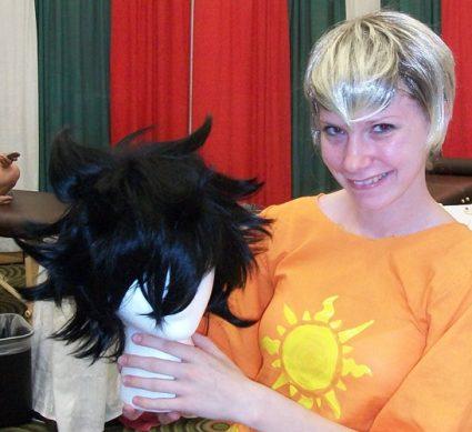 Gamzee cosplay wig styled by Hanari
