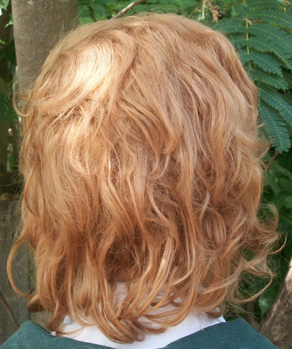Blonde hobbit cosplay wig back view