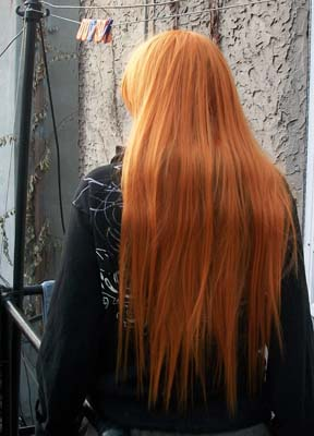 Hollow Ichigo cosplay wig back view