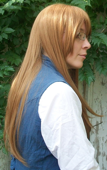 Jade Curtiss cosplay wig side view