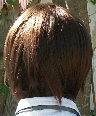 Light Yagami cosplay wig back view