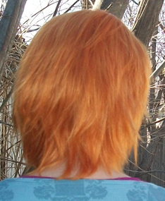 Nami cosplay wig back view