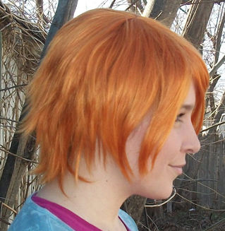 Nami cosplay wig side view