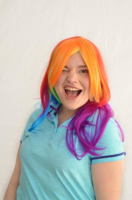 Rainbow Dash cosplay wig