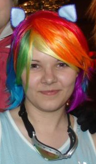 Rainbow Dash customer wig