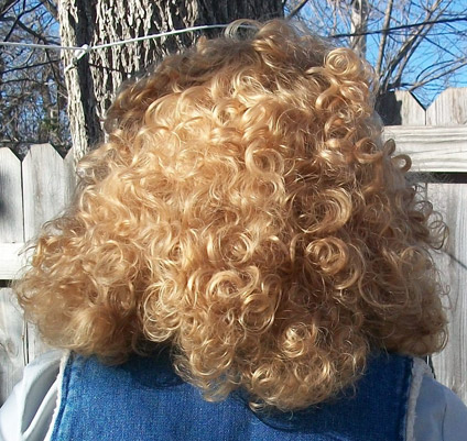 River Song cosplay wig back view