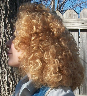 River Song cosplay wig side view