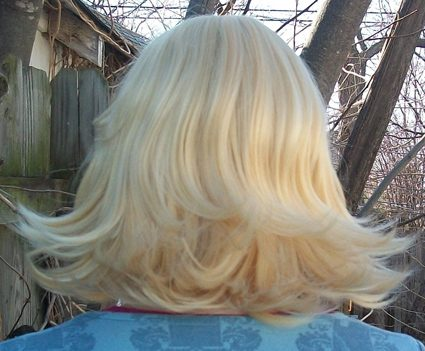 Roxy Lalonde cosplay wig back view