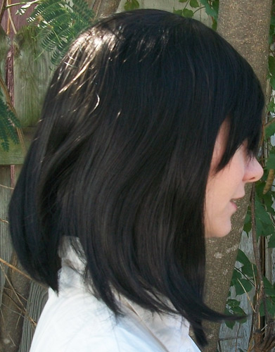 Sailor Saturn cosplay wig side view