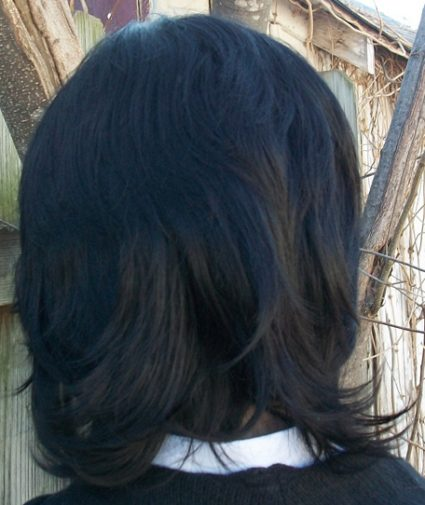 Snape cosplay wig back view