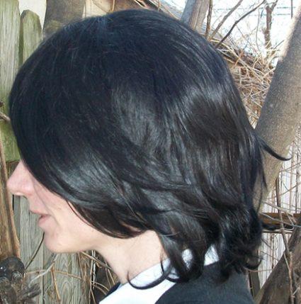 Mikasa cosplay wig back view
