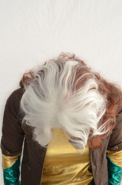 Rogue cosplay wig top view