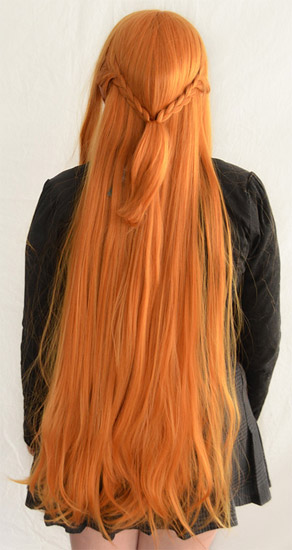 Asuna cosplay wig back view