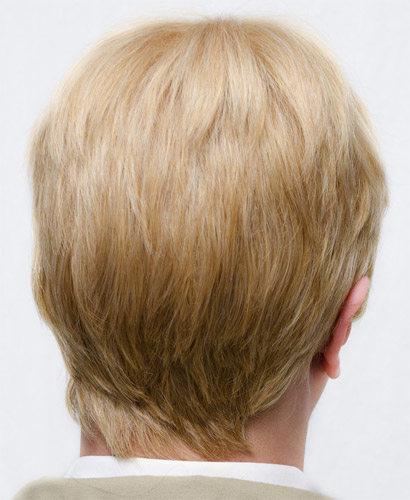 Captain America cosplay wig back view
