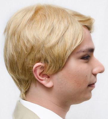 John Watson cosplay wig side view