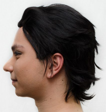 Cronus Ampora cosplay wig side view