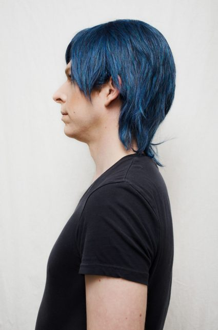 Chrom cosplay wig side view