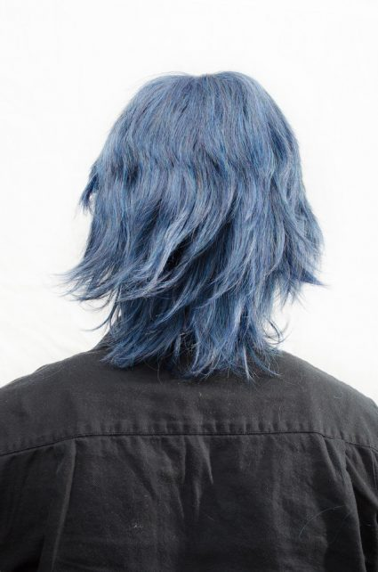 Chrom cosplay wig back view