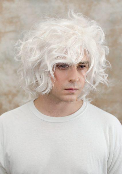 Nagito Komaeda cosplay wig fluff view