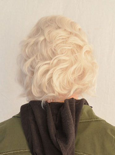 Nagito Komaeda cosplay wig back view