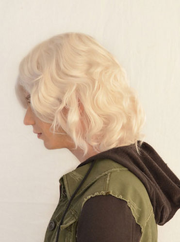 Nagito Komaeda cosplay wig side view
