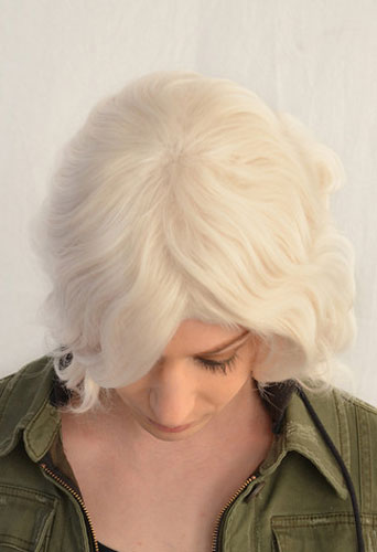 Nagito Komaeda cosplay wig top view