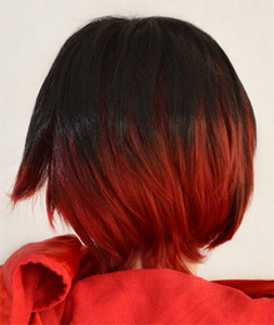 Ruby Rose cosplay wig back view