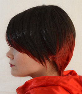 Ruby Rose cosplay wig side view