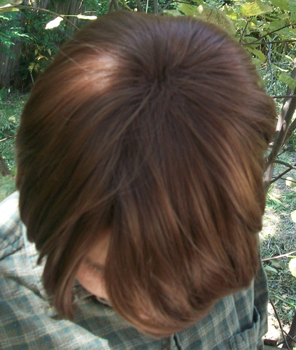 Sam Winchester cosplay wig top view