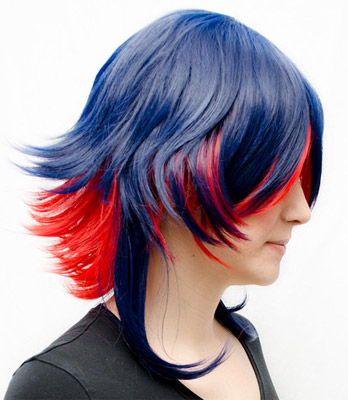 Ryuko Senketsu cosplay wig side view