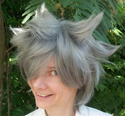 Stein cosplay wig spiked view