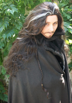 Thorin Oakenshield cosplay wig outside!