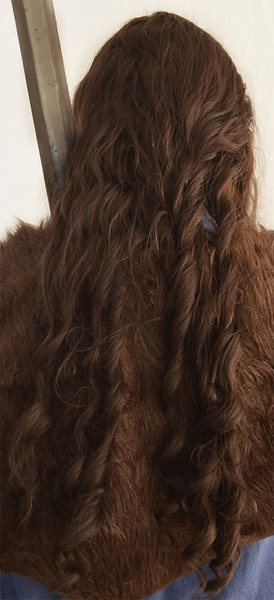 Thorin Oakenshield cosplay wig back view