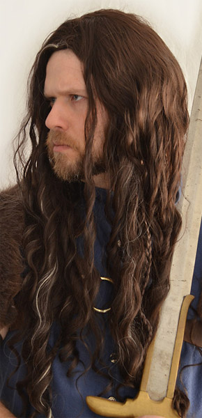 Thorin Oakenshield cosplay wig side view