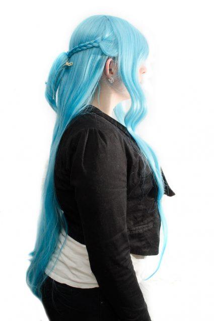 Undine Asuna cosplay wig side view