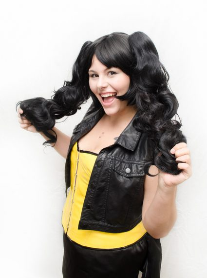 black loli cosplay wig