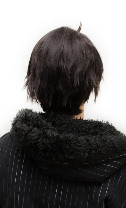 John Egbert cosplay wig back view